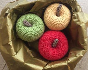 Dinette / market crochet: basket of apples lights