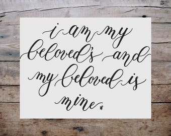 Beloved Print - Song Of Solomon 7:10