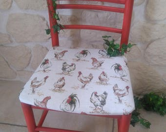 """Chair Makeover """"country"""" style and old patina"""