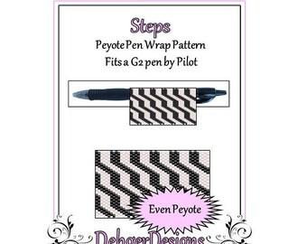 Bead Pattern Peyote(Pen Wrap/Cover)-Steps