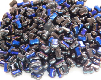 Jet Azuro 2-Hole CoCo Vertical Beads (50)