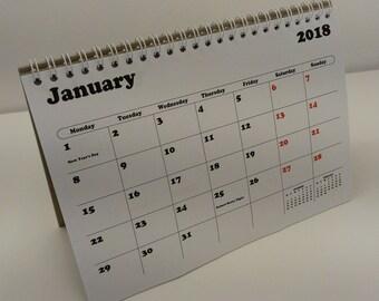 2018 Flip Desk Calendar UK A5