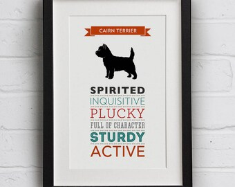 Cairn Terrier Dog Breed Traits Print - Cairn Terrier Gift