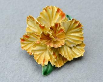 Porcelain Carnation Pin Vintage