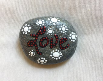 Hand-Painted 'Love' Stone