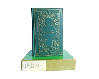 Edgar A. Guest Poetry Book Collected Verse, Green & Gilt Cloth Binding with Original Box, 1946, Green Hardback, Inspirational Poetry Book