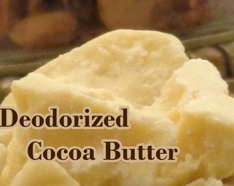 Naturally DEODORIZED COCOA BUTTER (1 - 4 lb sizes) Top Quality! Fresh, Organic, Pure
