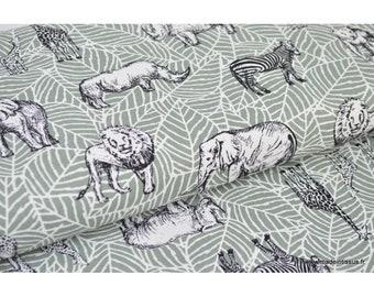 safari print cotton canvas fabric