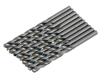 CT2981 10PC 5mm HSS Drill Bit Set for Hobby Craft Model and Jewellery Makers 5mm For Metal, Plastic And Wood