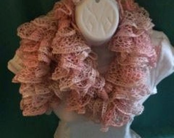 Lace Scarf- Light Pink