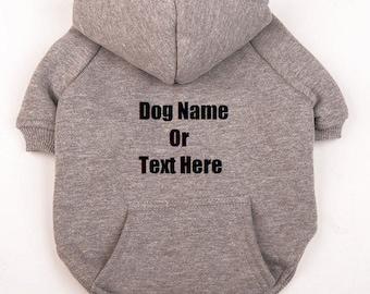 Custom Personalized Design Your Own Dog Hoodie Sweatshirt (pet Clothing)
