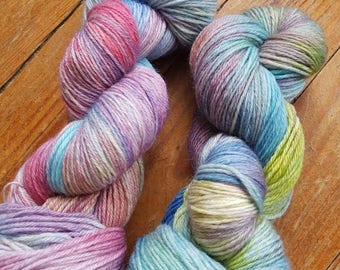 """DASH"" - SportWeight hand dyed wool skein"
