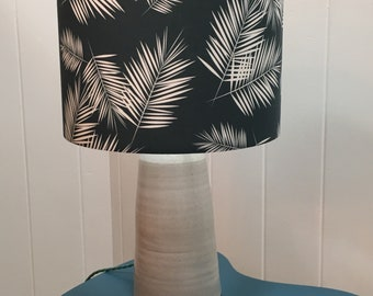 Palm Leaf Lampshade, lampshade, lamp shade, ceiling lamp shade, table lamp shade, leaf lampshade, teal lampshade, grey leaf lamp shade