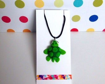 Green Turtle Necklace, turtle necklace, turtle jewellery, green turtle, turtle pendant, tortoise necklace, green turtle charm