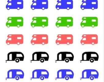 Caravans   621   Planner Sticker   Kikki-K   Happy Planner   Erin Condren