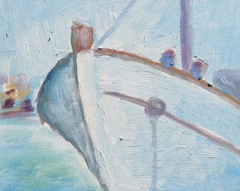 Oil painting of a Fishing Boat