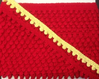 25 tape stripe 100% cotton red or yellow H2CM piping set 202