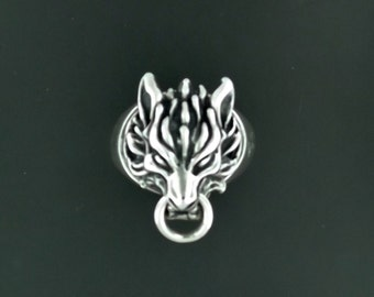 Final Fantasy 7 Cloud Strife Wolf Ring in Sterling Silver