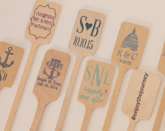 CUSTOM Wooden Drink Stirrers Great for Coffee Bars and Weddings