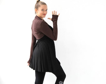 Shrug Bolero Shrug Long sleeve shrug with thumbholes Ballet Shrug Yoga shrug Yoga clothing Activewear