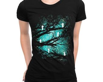 Princess Mononoke Forest Spirits T-shirt, Men's Women's All Sizes