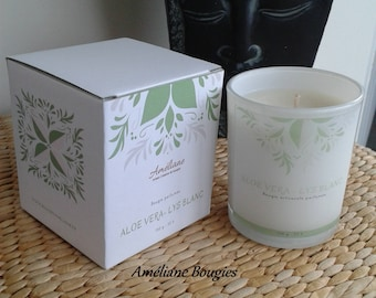Jar candle scented Aloe Vera & lily white * gift Cocoonong *.