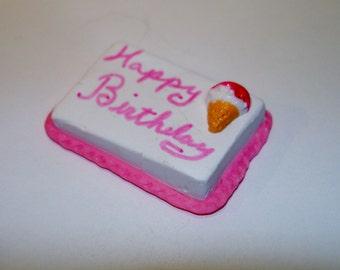 Dollhouse Mini Birthday cake - pink
