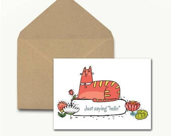 Just Saying Hello Note Cards