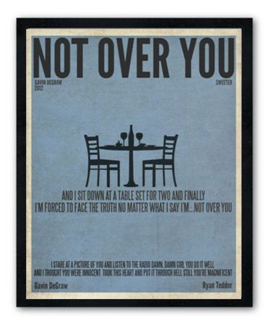 Not Over You / Gavin DeGraw / Lyric / DIGITAL Minimalist