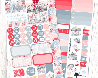 Chim-Chimney | London, Floral, Mary Poppins, Planner Stickers, PERSONAL SIZED