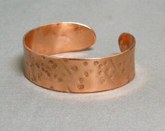 double textured copper bracelet