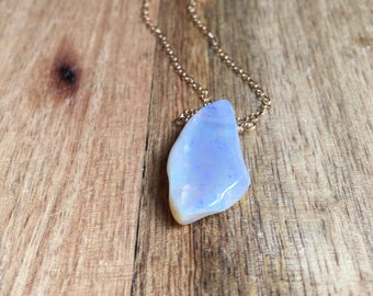 Opal Necklace - Gold Opal Necklace - Opal Jewelry - Australian Opal Necklace - Opal Pendant Necklace
