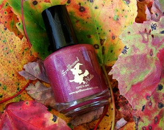 Candy Apple with optional scent - custom burgundy red holo holographic nail polish