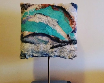 Lampshade felted