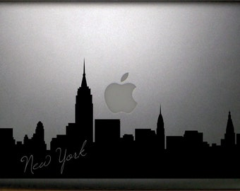"New York Skyline Macbook 13"" Decal FREE SHIPPING"