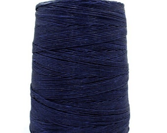 50 meters ≈ 55 yards / 1mm Navy Blue Waxed Cord / Cotton Waxed Cord