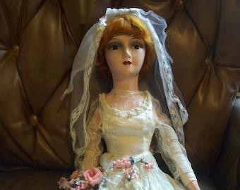 Boudoir doll- bride- 1930s era