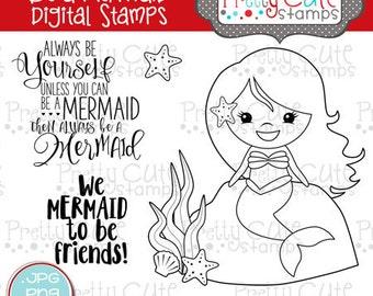 Be a Mermaid DIGITAL Stamp Set