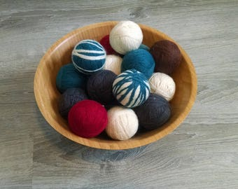 Wool Dryer Balls set of 4, dryer balls, eco friendly home, laundry, housewarming gift, eco friendly gift, green home