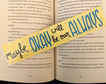 The Fault in Our Stars // Bookmark // Handmade
