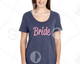 "Womens - Girls -l Premium Retail Fit ""Bride"" Fashion Tee"