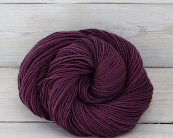 Aspen Sport - Hand Dyed Superwash Merino Wool Sport Yarn - Colorway: Eggplant