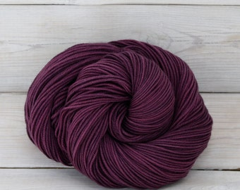 Aspen Sport - Hand Dyed Superwash Merino Wool Sport Yarn - Colorway: Eggplant