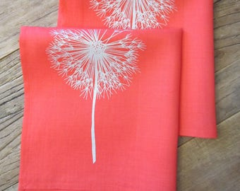 Hand Dyed and Silk Screened Napkins (set of 2)