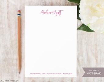 Personalized Notepad - SIGNATURE  - Stationery / Stationary Notepad