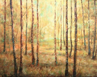 AUTUMN POEM, 40x30cm, autumn forest trees landscape