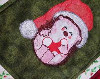 Jolly Hedgehog Applique - Machine Embroidery Design