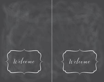 CHalk Welcome Place Cards - Digital Print File