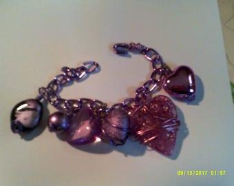 Sale Chunky Heart Charm Bracelet