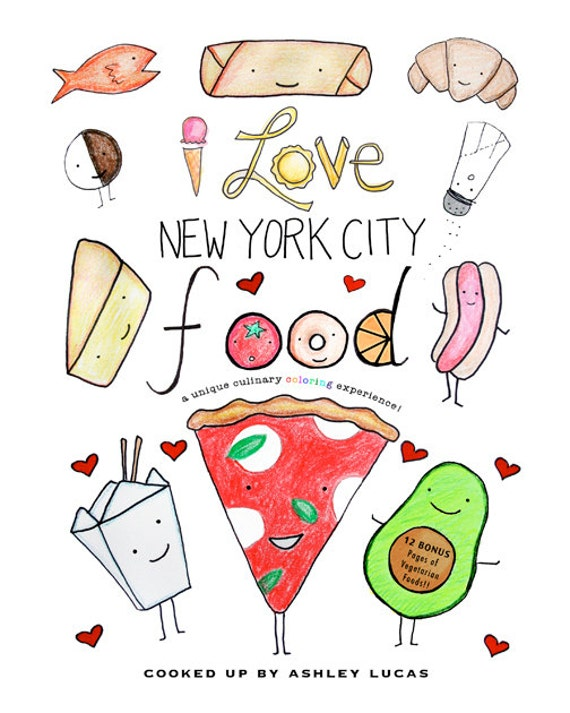 New York City Food Coloring Book PDF I Love New York City